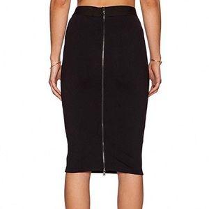Express Black Pencil Skirt With Long Back Zipper